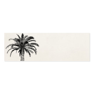 Retro Tropical Island Palm Tree in Black and White Pack Of Skinny Business Cards