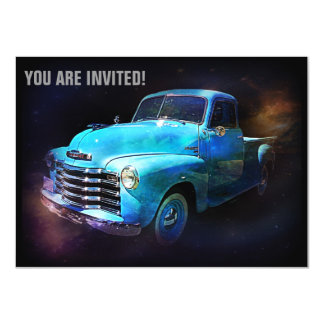 Retro Truck is Out of This World 11 Cm X 16 Cm Invitation Card
