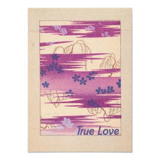 """Retro True Love 4.5"""" X 6.25"""" Invitation Card"""