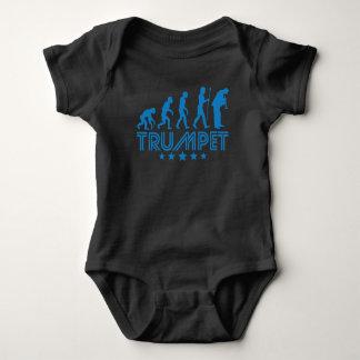 Retro Trumpet Evolution Baby Bodysuit
