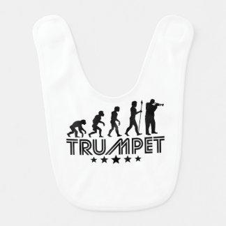 Retro Trumpet Evolution Bib