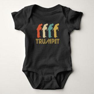 Retro Trumpet Pop Art Baby Bodysuit