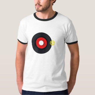 Retro Tshirt with 45 record and insert