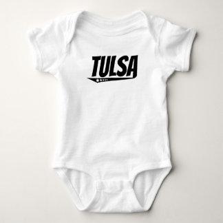 Retro Tulsa Logo Baby Bodysuit