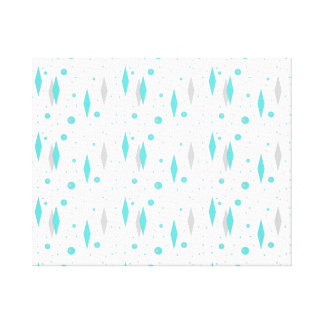 Retro Turquoise Diamond & Starburst Canvas