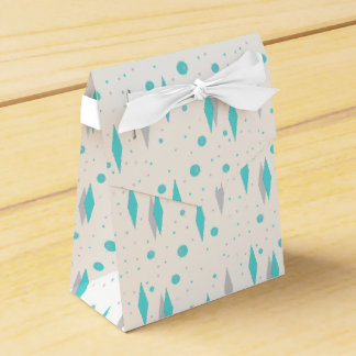 Retro Turquoise Diamond & Starburst Favor Box