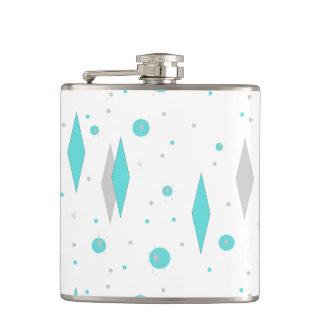 Retro Turquoise Diamond & Starburst Flask