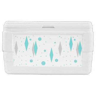 Retro Turquoise Diamond & Starburst Igloo Cooler