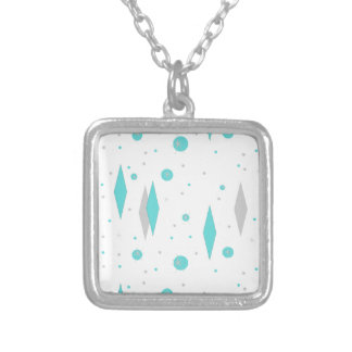 Retro Turquoise Diamond & Starburst Necklace
