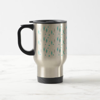 Retro Turquoise Diamond & Starburst Travel Mug