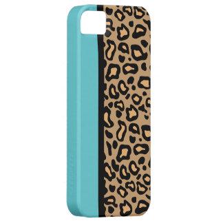Retro Turquoise Leopard Print iPhone Case Gift