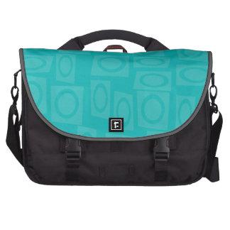 Retro Turquoise Rings Pattern Laptop Bag