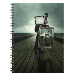 Retro tv men notebook