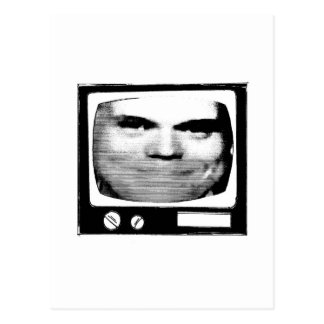 retro tv propaganda postcard