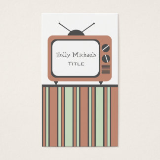 Retro TV Set Business Card