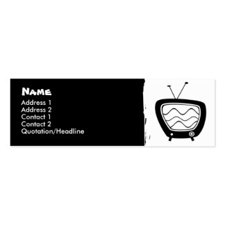 Retro TV Skinny Profile Cards Pack Of Skinny Business Cards
