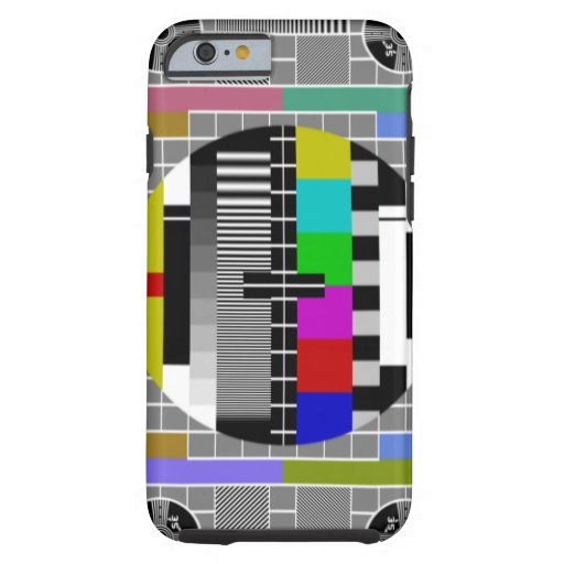 Retro TV Text Pattern iPhone 6 iPhone 6 Case