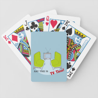 Retro TV Time! Design. Bicycle Poker Cards
