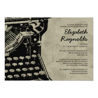 Retro Typewriter Keys Bridal Shower Invitations