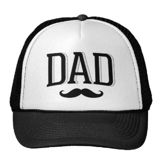 Retro Typography Dad Mustache Father's Day Cap