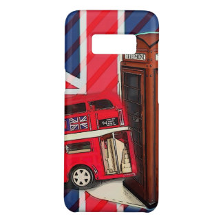 Retro Union Jack London Bus red telephone booth Case-Mate Samsung Galaxy S8 Case