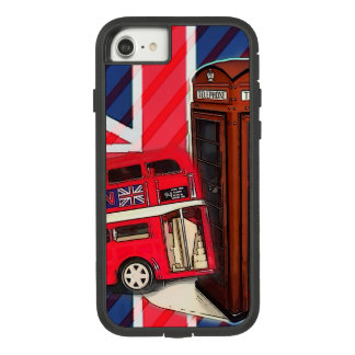 Retro Union Jack London Bus red telephone booth Case-Mate Tough Extreme iPhone 7 Case