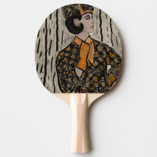 RETRO UPTOWN GIRL PING PONG PADDLE