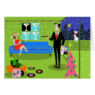 Retro Urban Couple Christmas Card