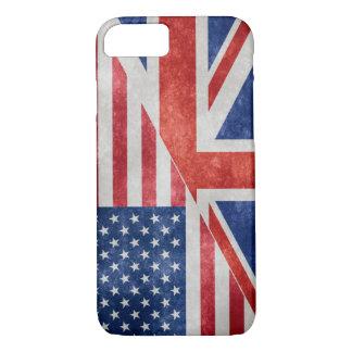 Retro US-UK Flag iPhone Case