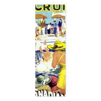 Retro Vacation Bookmark Pack Of Skinny Business Cards