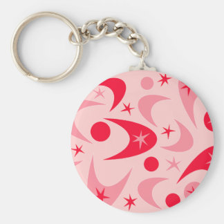 Retro Valentine Boomerangs Key Ring