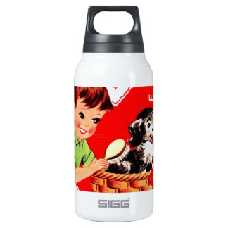 Retro Valentine Boy and Dog 0.3L Insulated SIGG Thermos Water Bottle