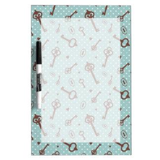 Retro Valentine Keys Dry-Erase Boards
