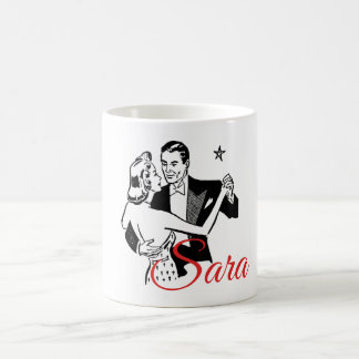 Retro Valentine's Dancers Personnalised Coffee Mug