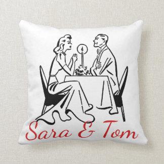 Retro Valentine's Diners Personnalised Cushion