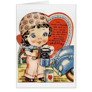 Retro Valentine's Day Greeting Cards