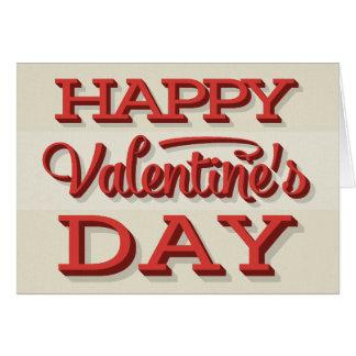 Retro Valentine's Day Typography Valentine Card