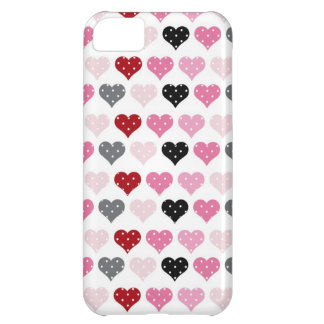 Retro Valentine's Hearts Cover For iPhone 5C