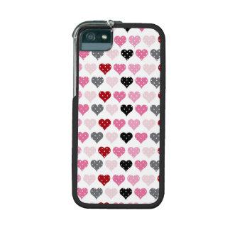 Retro Valentine's Hearts Cover For iPhone 5/5S