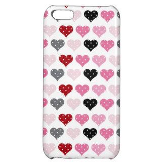 Retro Valentine's Hearts iPhone 5C Cases