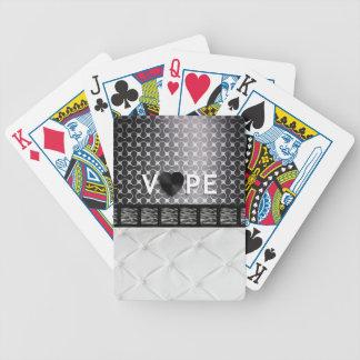 Retro Vape Zebra Elegent Poker Cards
