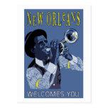 Retro vector Art New Orleans jazz trumpet player