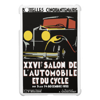 Retro vector arts deco Bruxelles auto salon ad iPad Mini Cases