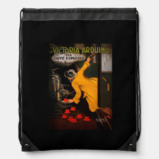 Retro Victoria Arduino Coffee Ad Drawstring Backpack