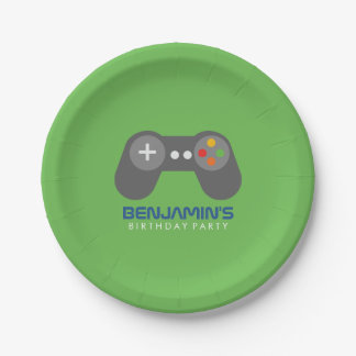Retro Video Games Birthday Party 7 Inch Paper Plate