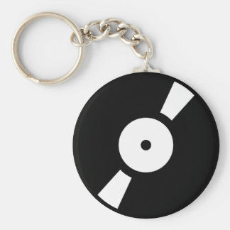 retro vinly record basic round button key ring