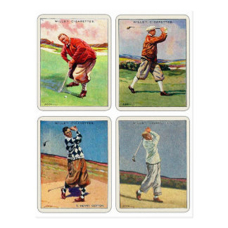 Retro Vintage 20s Golfing Cigarette Will's Cards