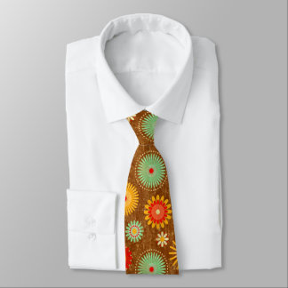 retro vintage 50s flower kitche pattern tie