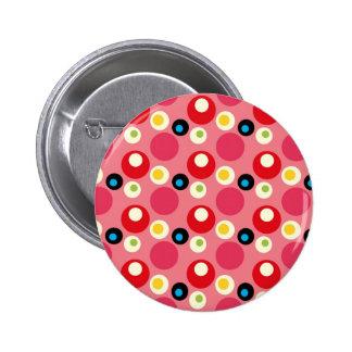 Retro Vintage 70s Circle Pattern Pin