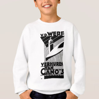 retro vintage advertisement - Werf  canoe rentals Sweatshirt